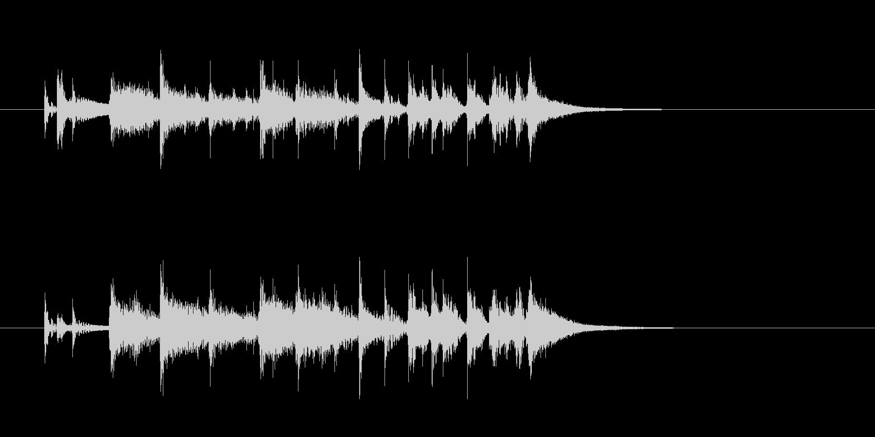 ジングル(報道番組風)の未再生の波形