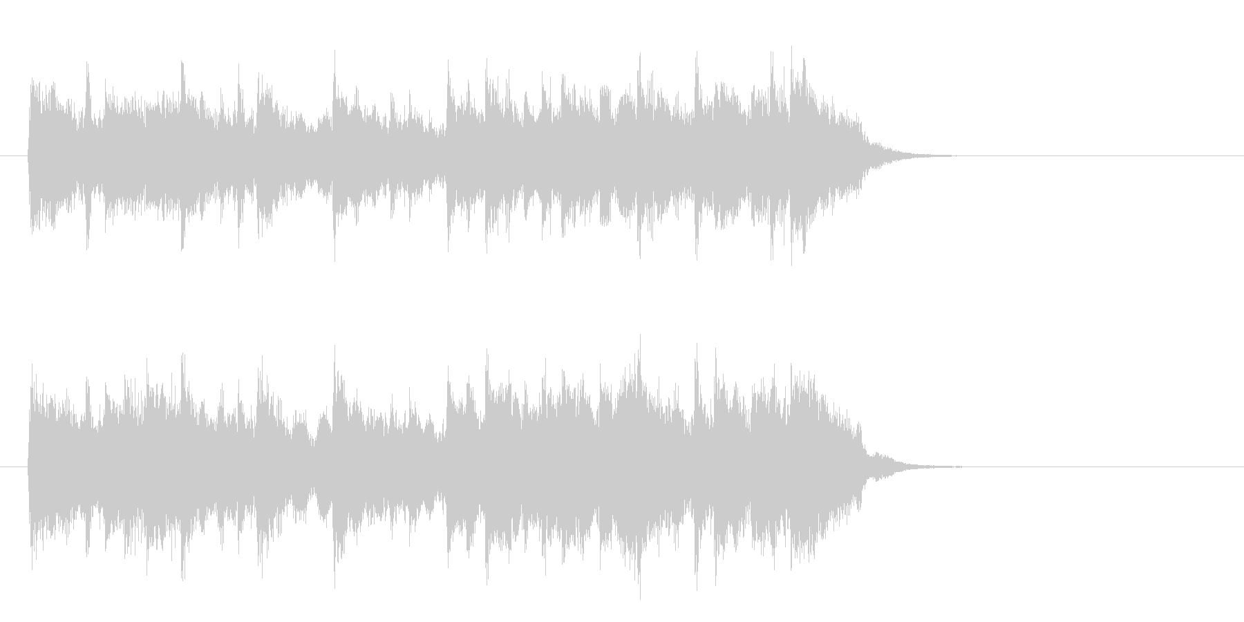 アコースティックバラード(サビ)の未再生の波形