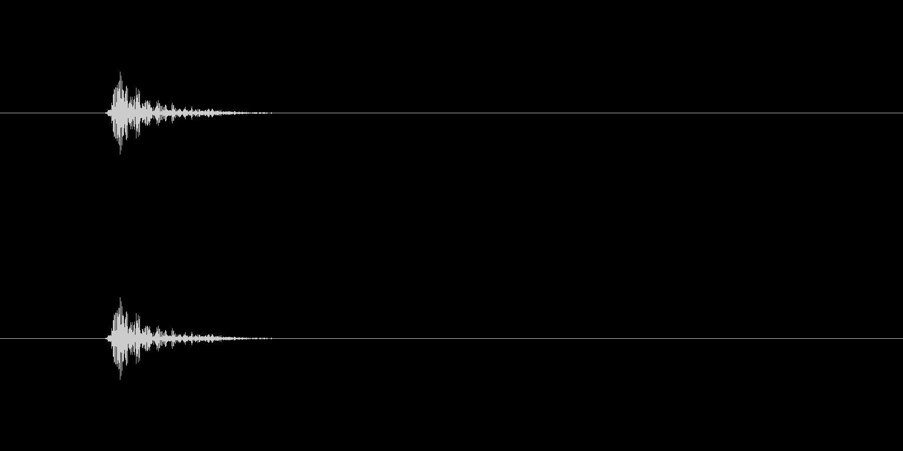 ゴンッ(物音)の未再生の波形