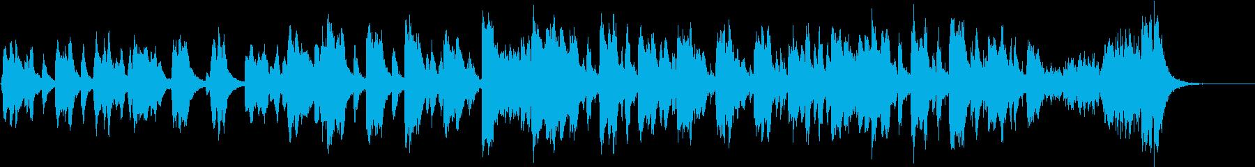 バイオリンとピアノのコミカルなワルツの再生済みの波形