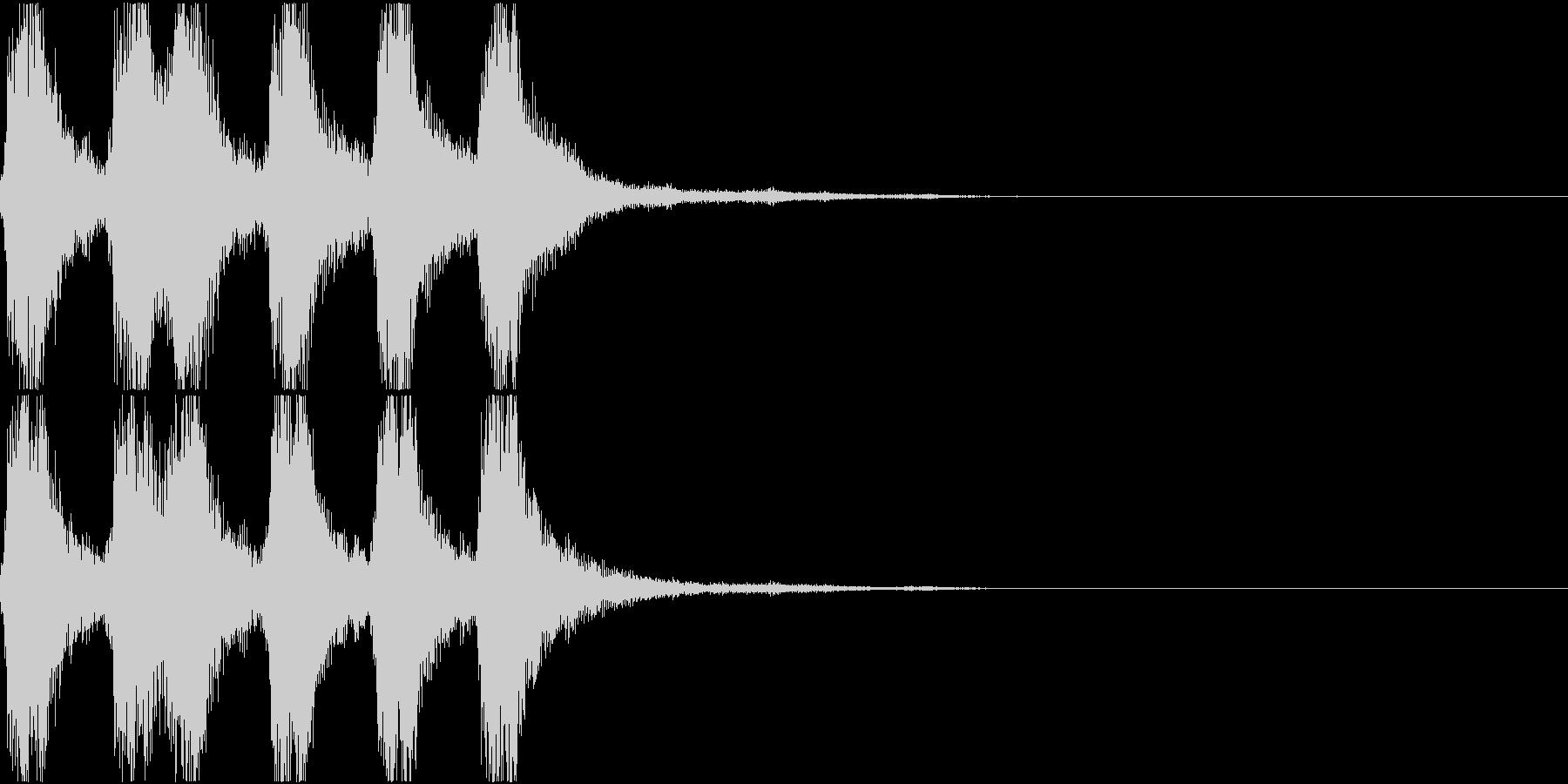 ラッパ ファンファーレ 定番 16の未再生の波形