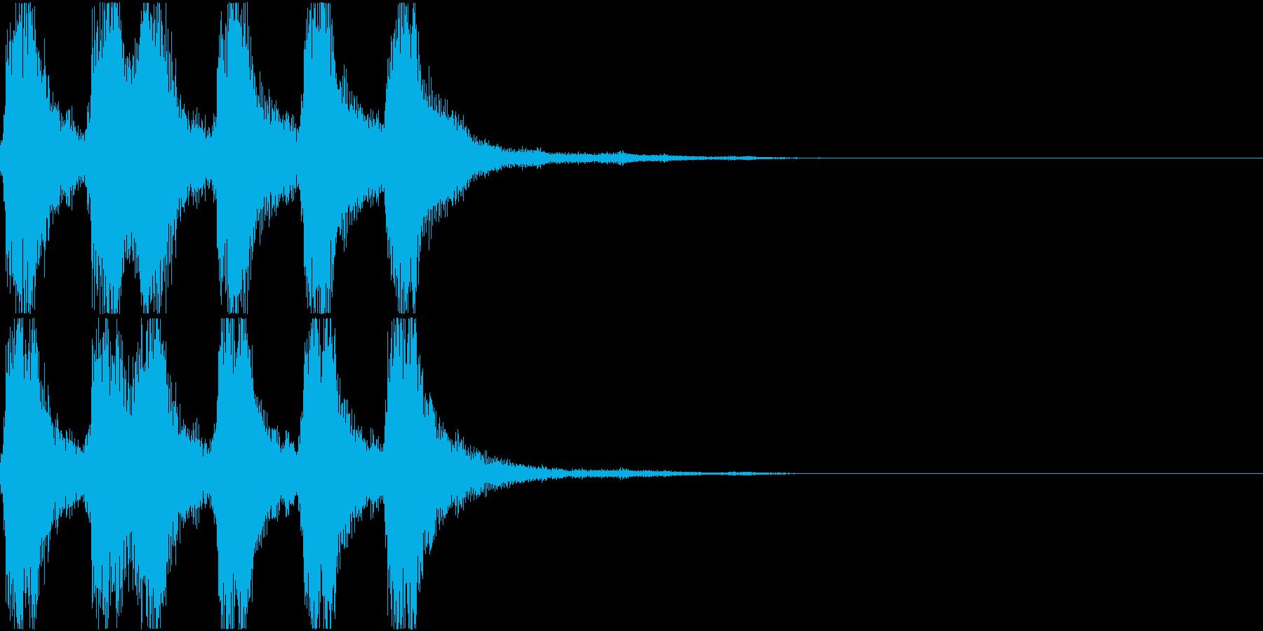 ラッパ ファンファーレ 定番 16の再生済みの波形