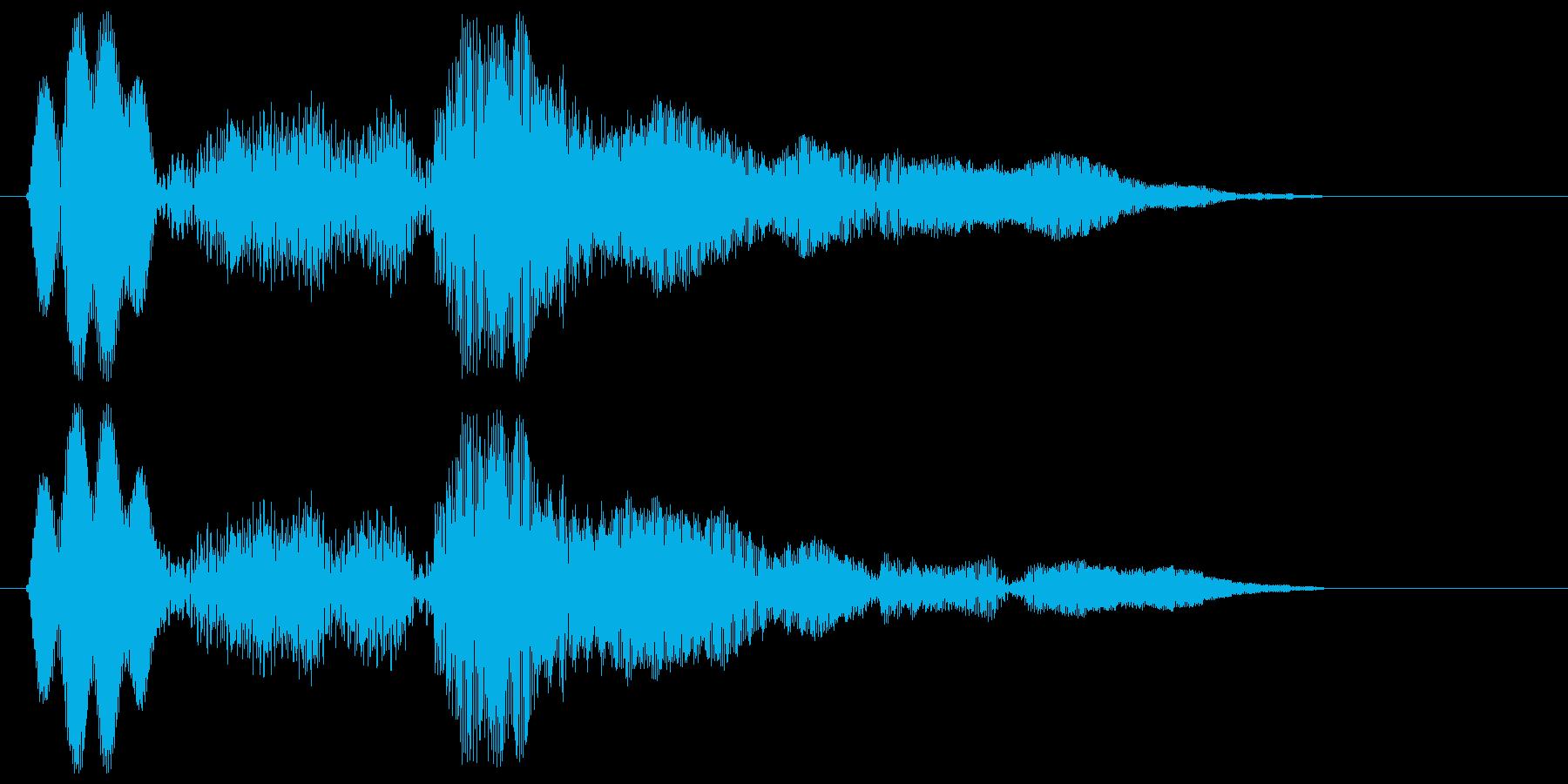 ゲームのプレイ中にちょっとしたミスの再生済みの波形