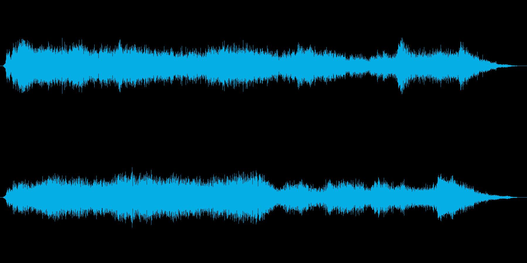 上官の号令と合戦の声の再生済みの波形