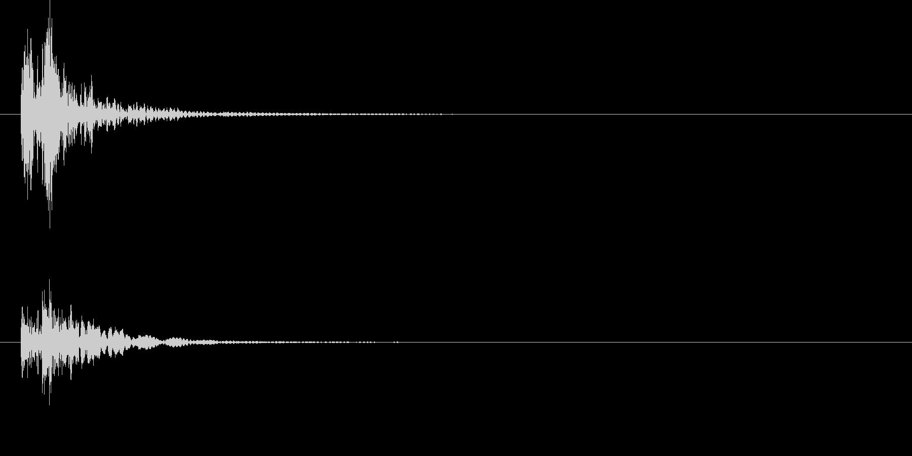 和太鼓お囃子(ドドンッ) 1の未再生の波形