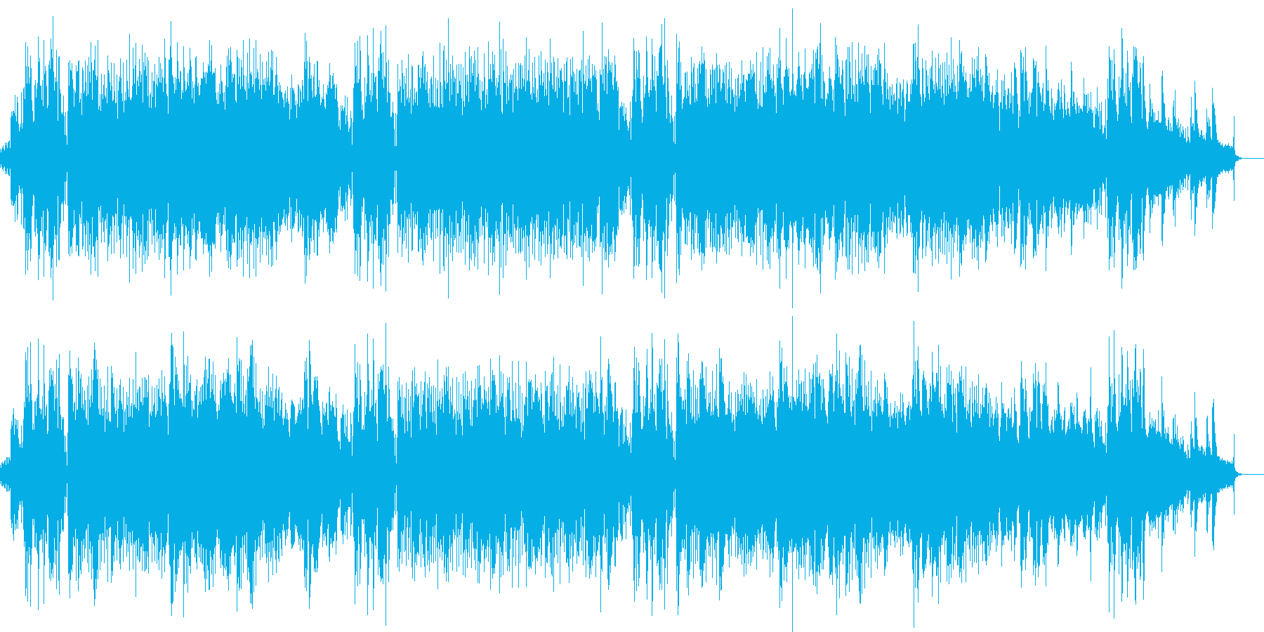 打ち込みによるイージーリスニング風の曲…の再生済みの波形