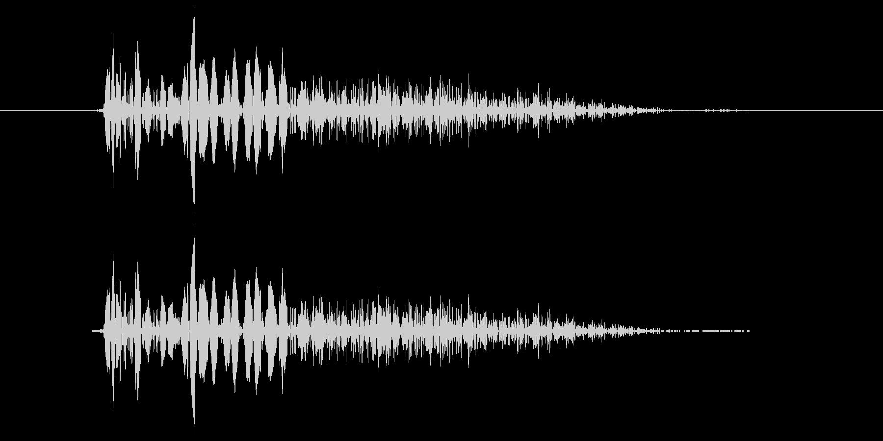 バシッ!という打撃音ですの未再生の波形
