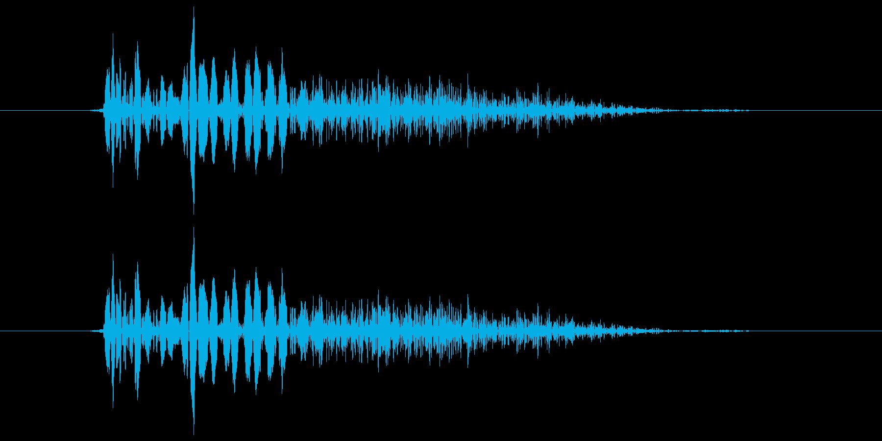 バシッ!という打撃音ですの再生済みの波形