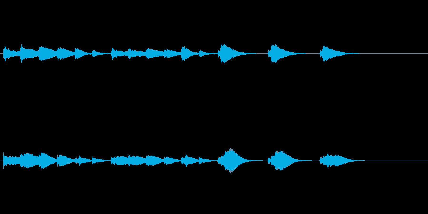 オープニングベル3の再生済みの波形