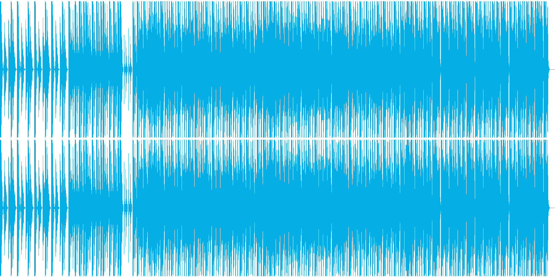 3xoscシンセのみで作曲したテクノの再生済みの波形