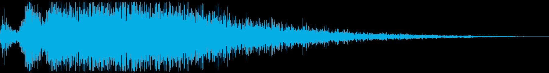 プシュー(エアー音、蒸気音) の再生済みの波形