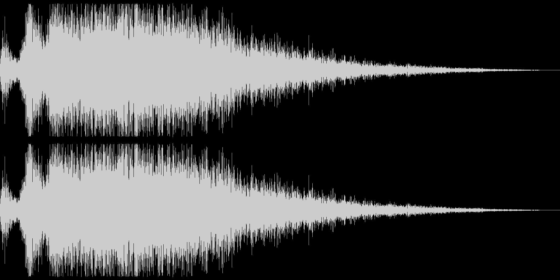 プシュー(エアー音、蒸気音) の未再生の波形