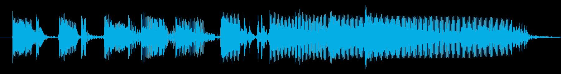 ベーススラップのみの勢いのあるジングルの再生済みの波形