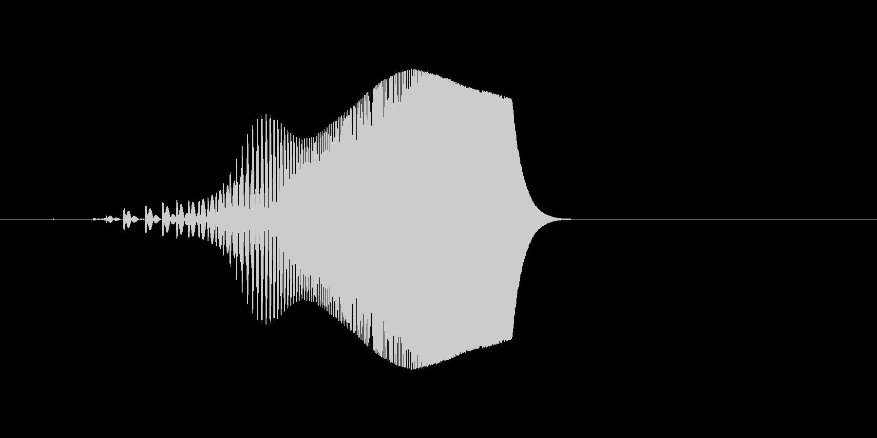 シンセ音。スワイプなど。「ヒュイッ」の未再生の波形