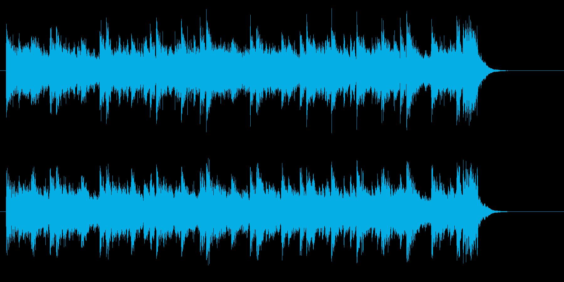 ピアノのライト・ポップス(サビ)の再生済みの波形