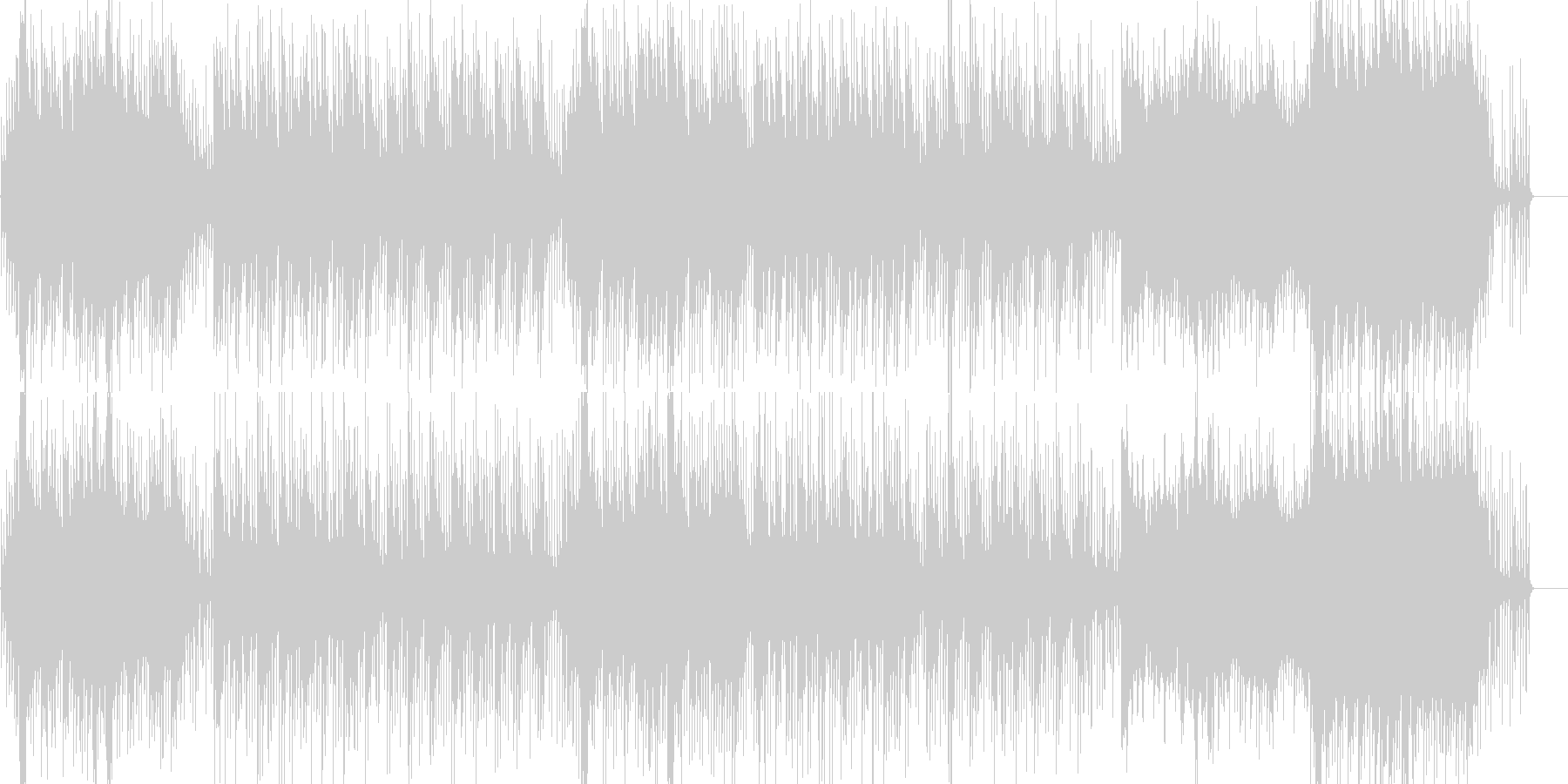 シタールによる異国情緒あふれるBGMの未再生の波形