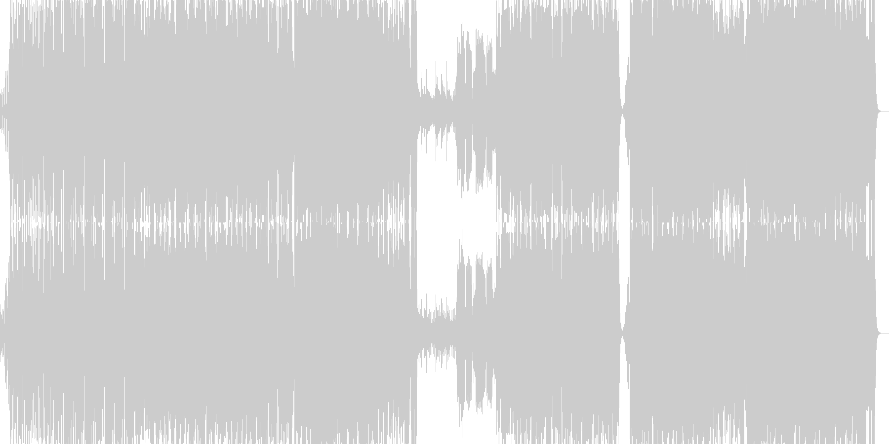 生バイオリンのドラムンベースの未再生の波形