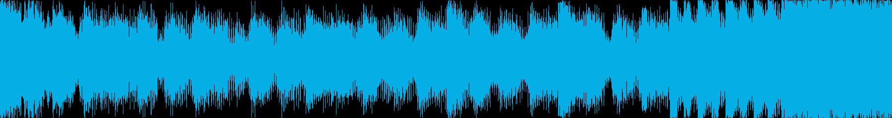 【ループG】ヘヴィーで攻撃的エレキギターの再生済みの波形