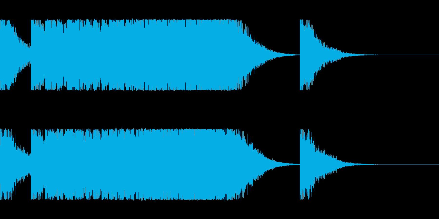 チャイナ、ゴング、速くなっていく鐘の再生済みの波形