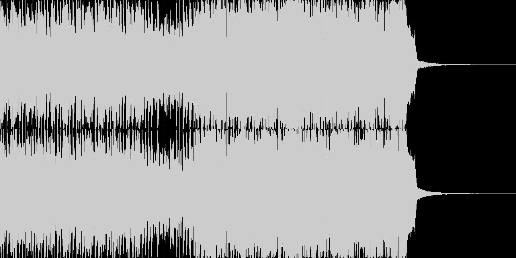 30秒尺の激しいダブステップの未再生の波形