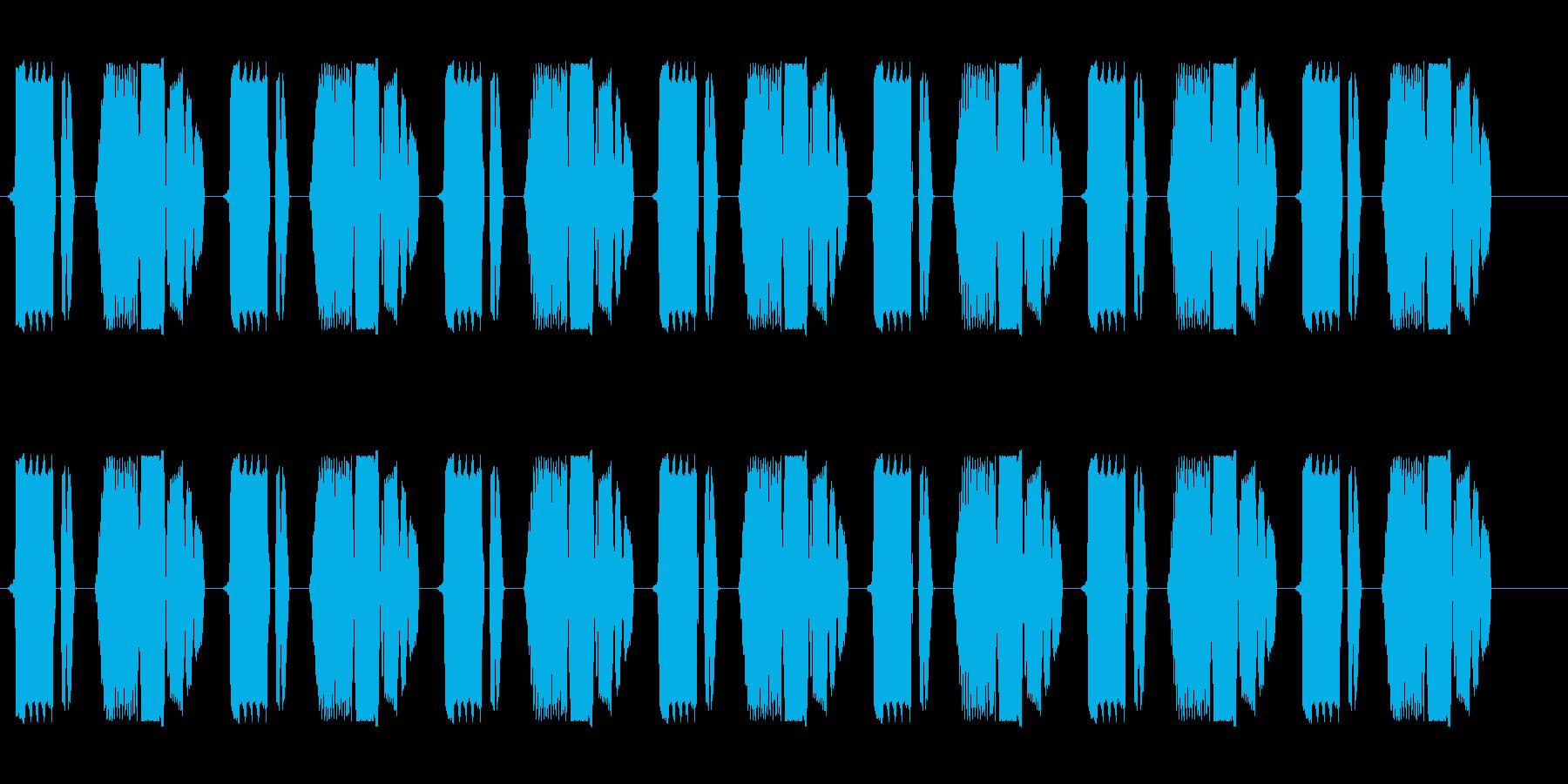 ビチョビチョビチョ(電子音)の再生済みの波形