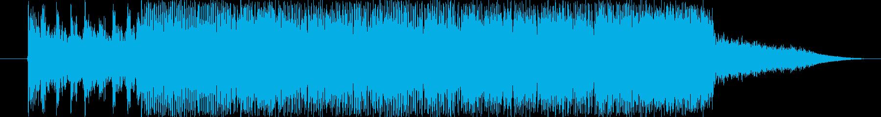 格闘ゲームやレースのスタート時の音の再生済みの波形