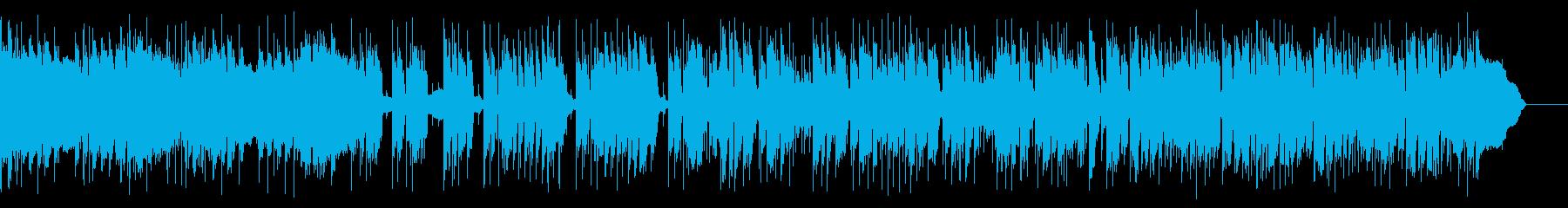 ベースをメインにしたポップスの再生済みの波形
