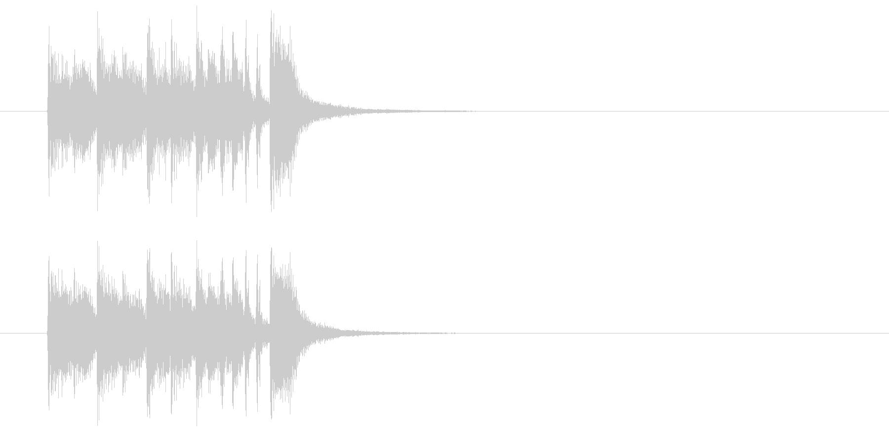 ジングル(正解をどうぞ)の未再生の波形