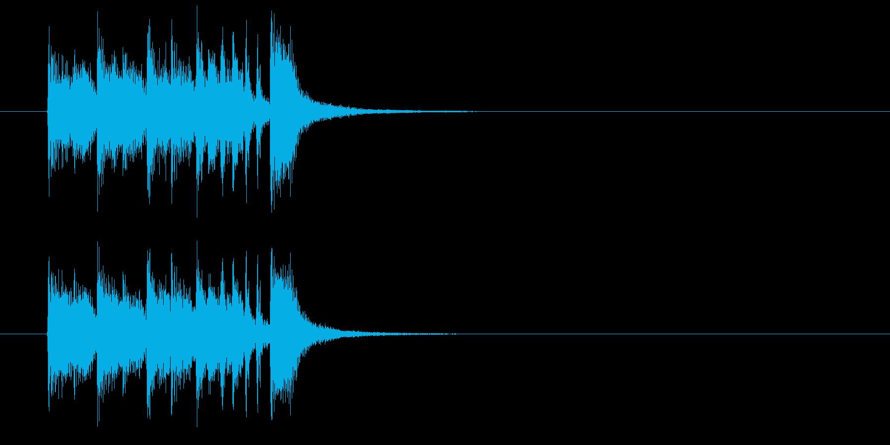 ジングル(正解をどうぞ)の再生済みの波形