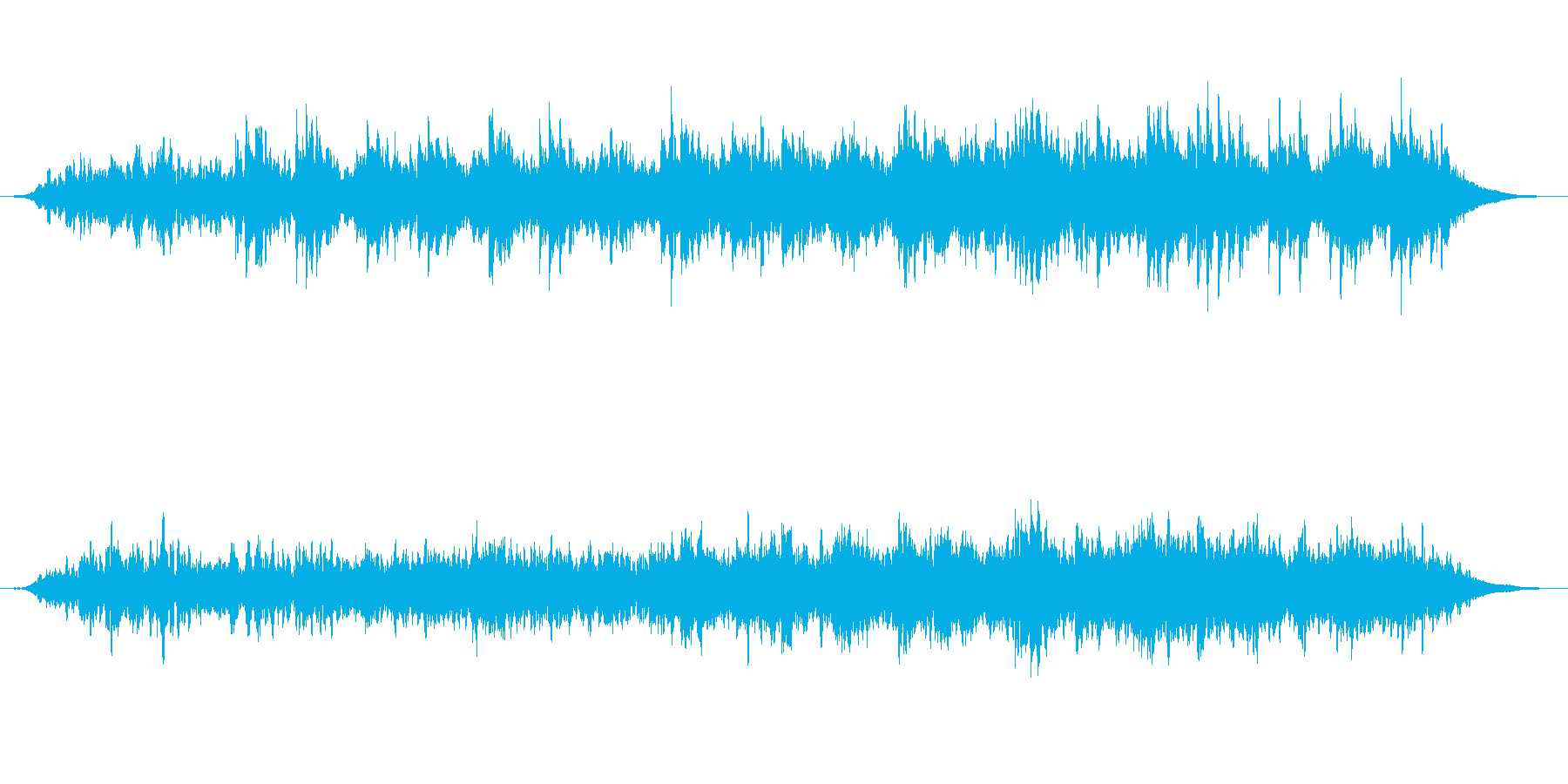繰り返すアコギの伴奏が心地よい曲の再生済みの波形