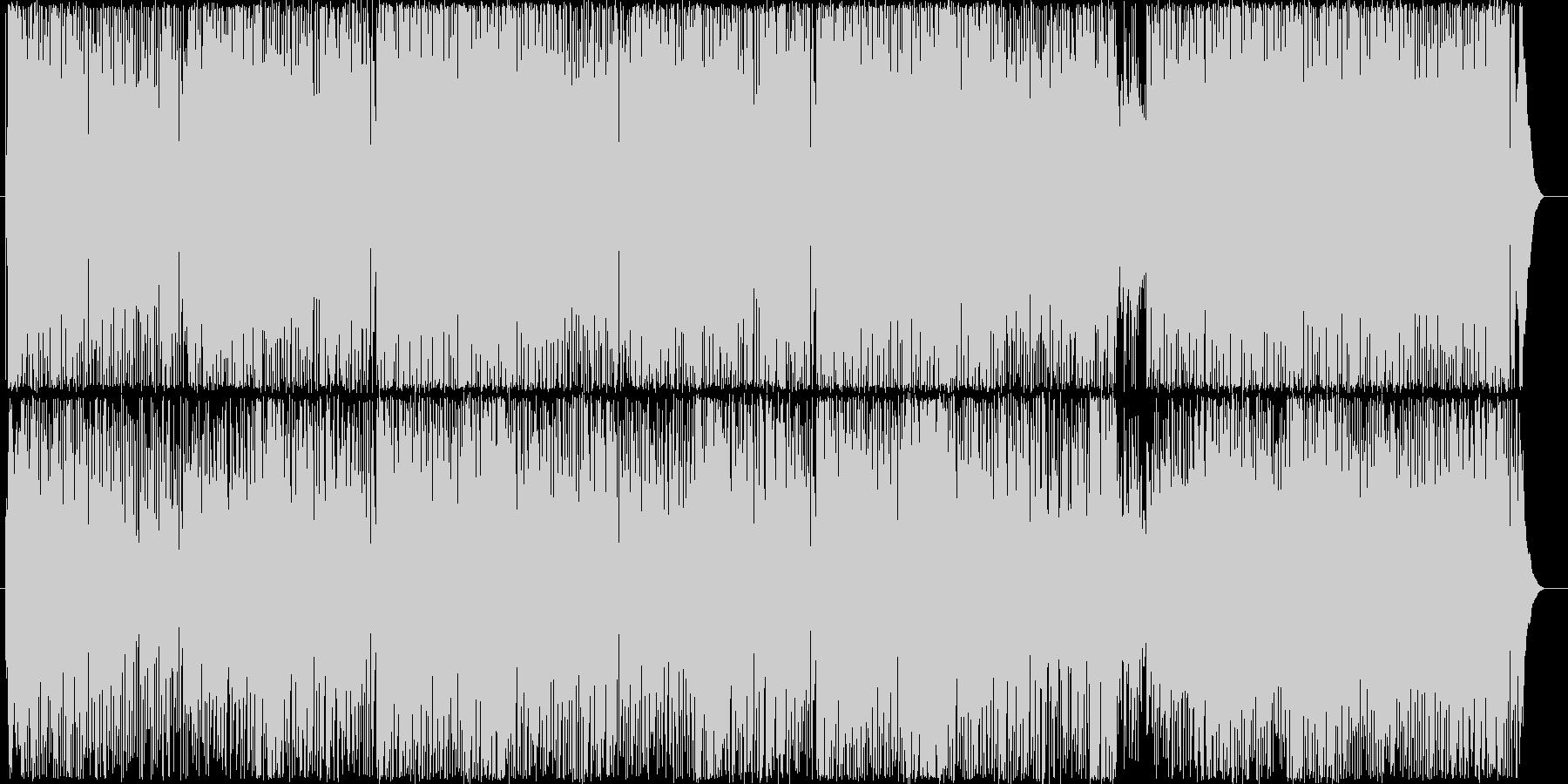 爽やかで疾走感のあるアコギのBGM1の未再生の波形