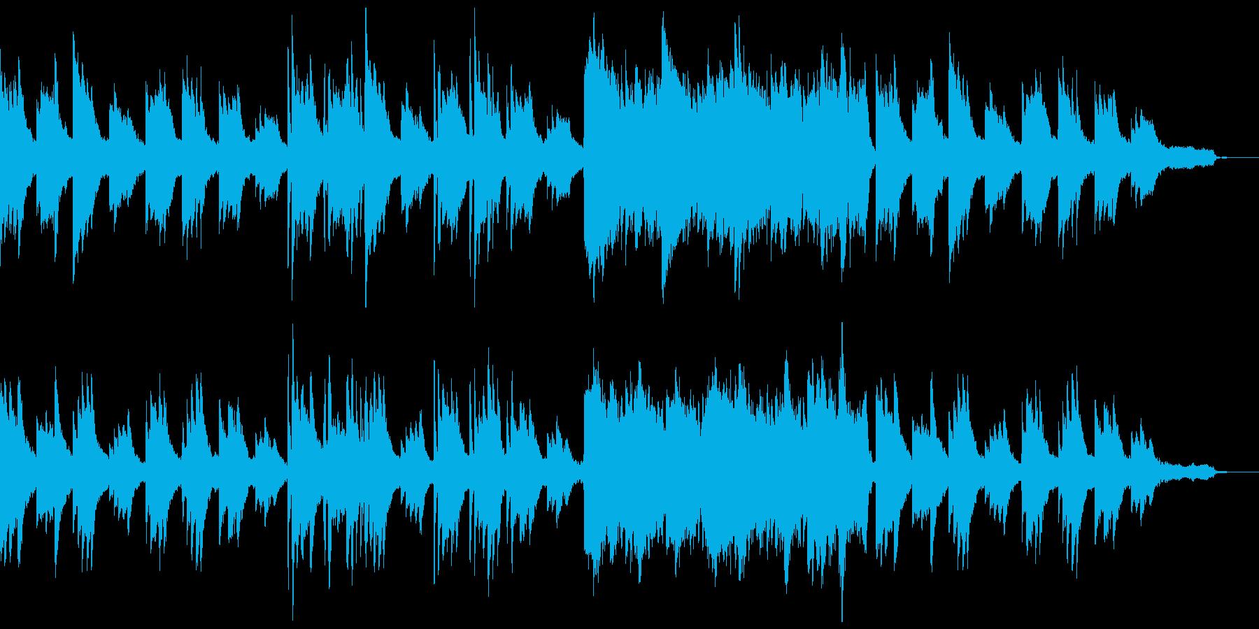 ピアノのアルペジオの再生済みの波形