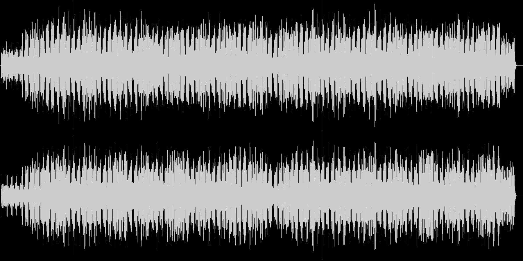 緊迫感のあるエレクトロの未再生の波形