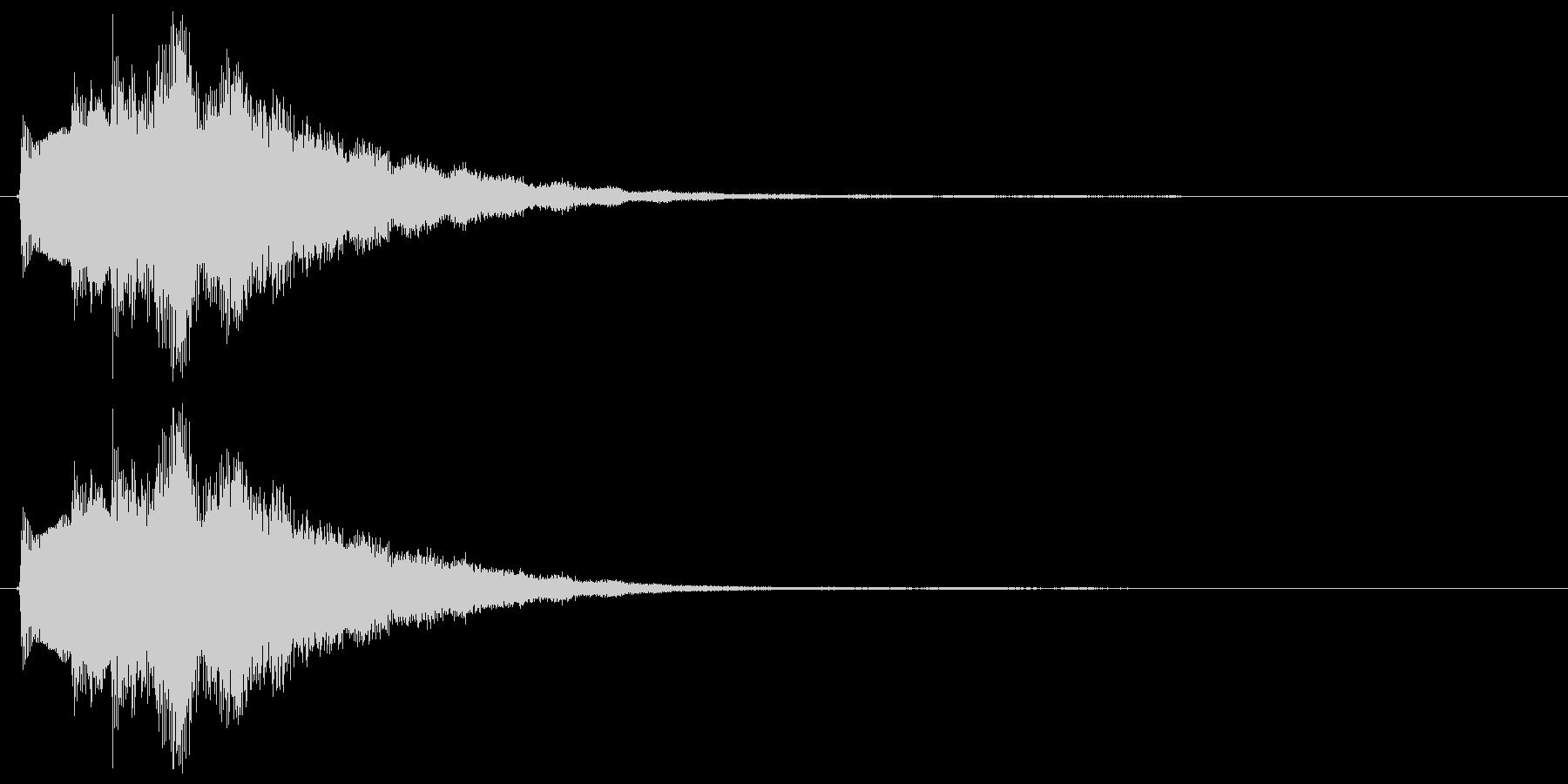 キラーン(決定音、ミステリアス、不思議)の未再生の波形