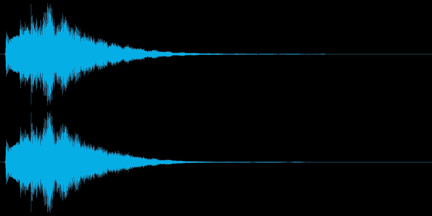 キラーン(決定音、ミステリアス、不思議)の再生済みの波形