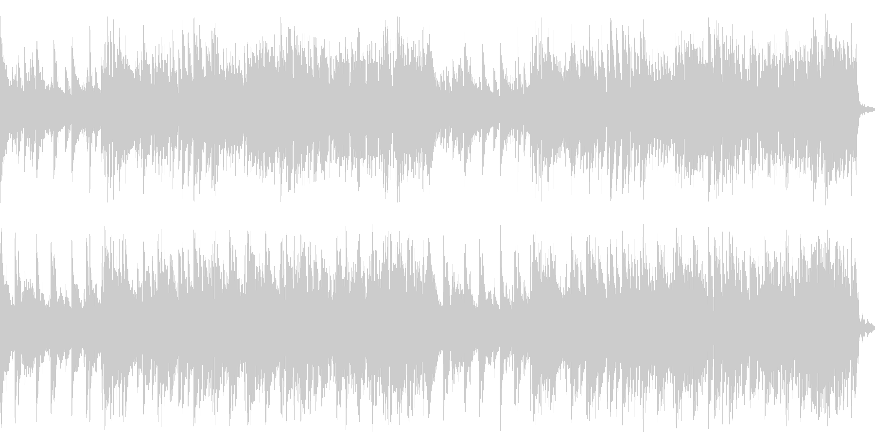 BARでバンドが演奏しているようなBGMの未再生の波形