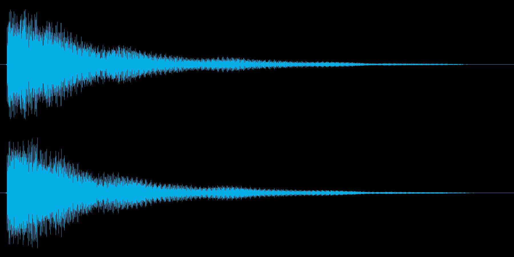 トゥイーン(鐘系)の再生済みの波形