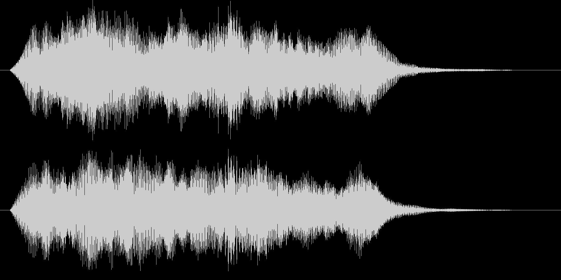 アジアンなサウンドロゴ、ジングルの未再生の波形