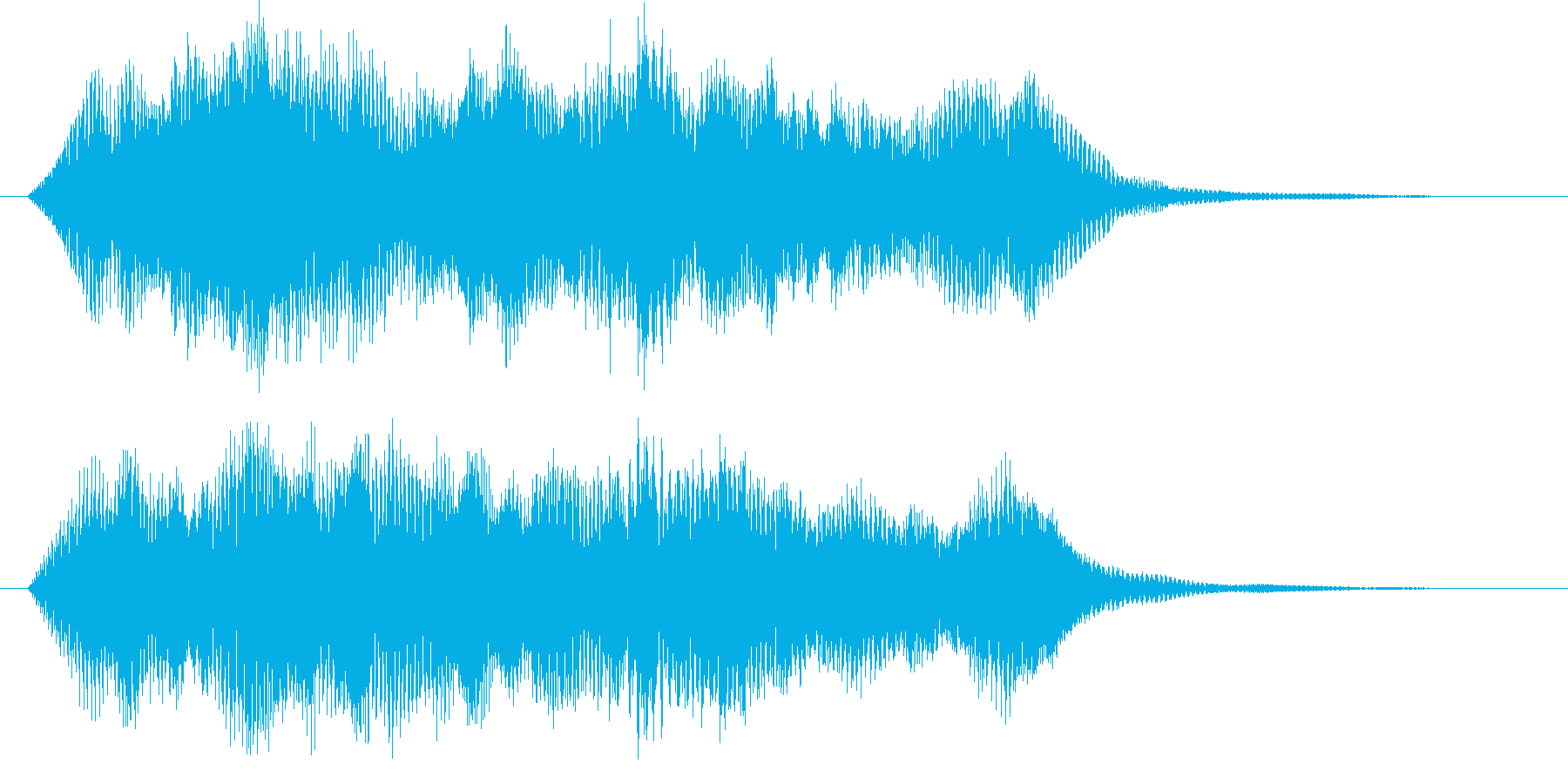 アジアンなサウンドロゴ、ジングルの再生済みの波形