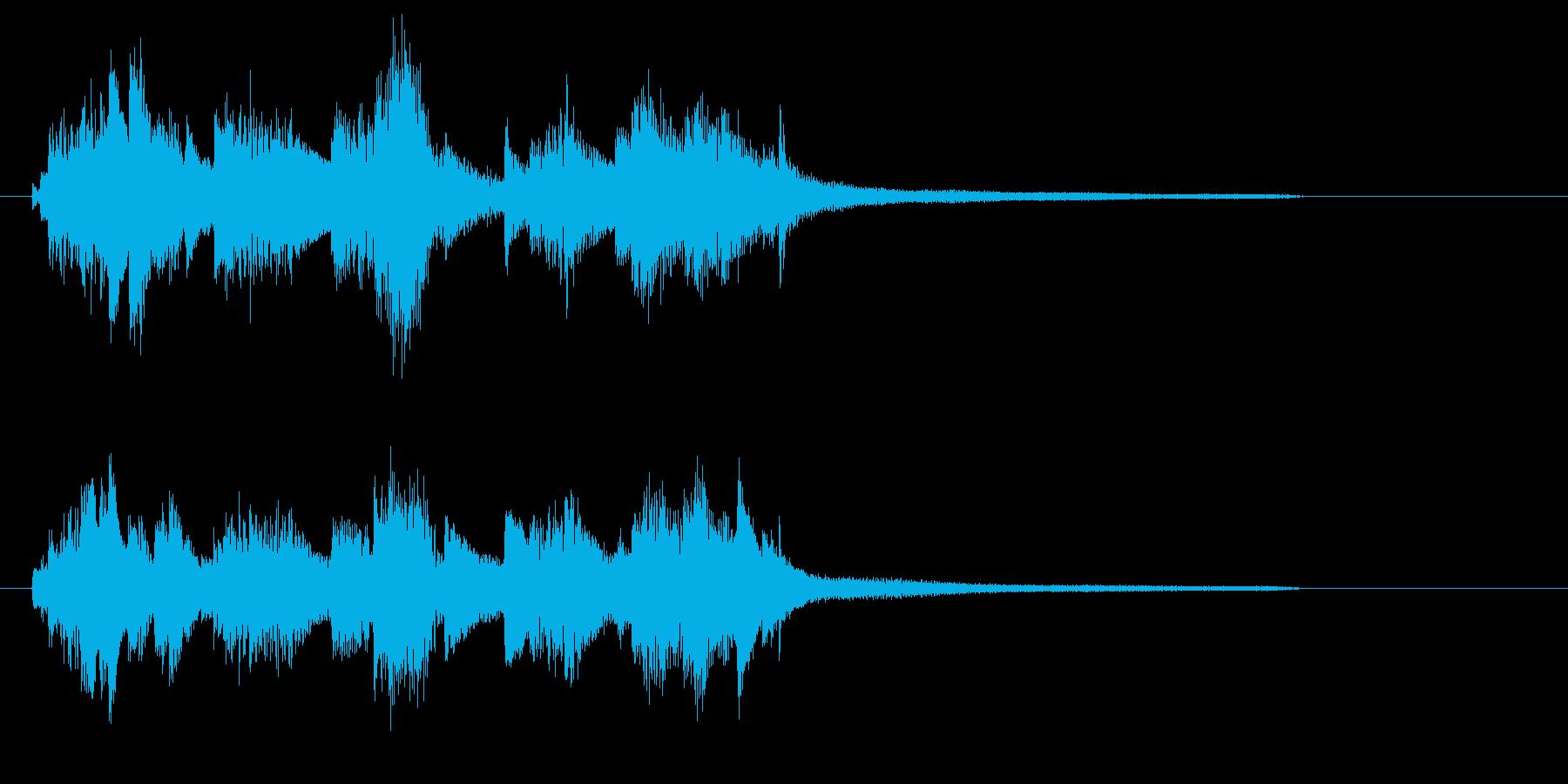 ジャジーなピアノ・ジングル・ロゴにの再生済みの波形