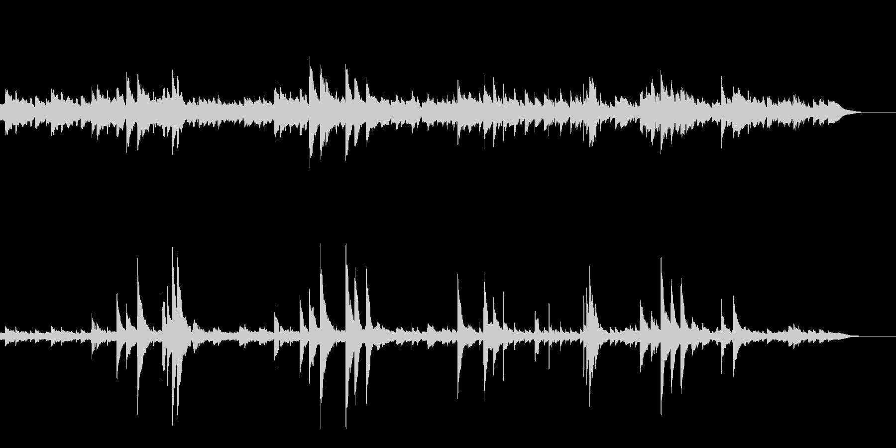 ゆらめくハープの音色・なぐさめのメロディの未再生の波形