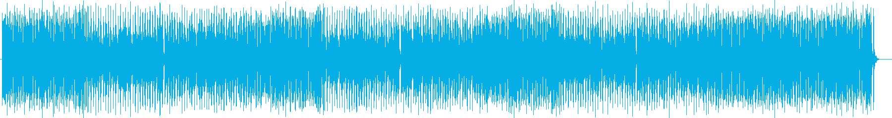 陽気なシンセサイザー・木管楽器サウンドの再生済みの波形