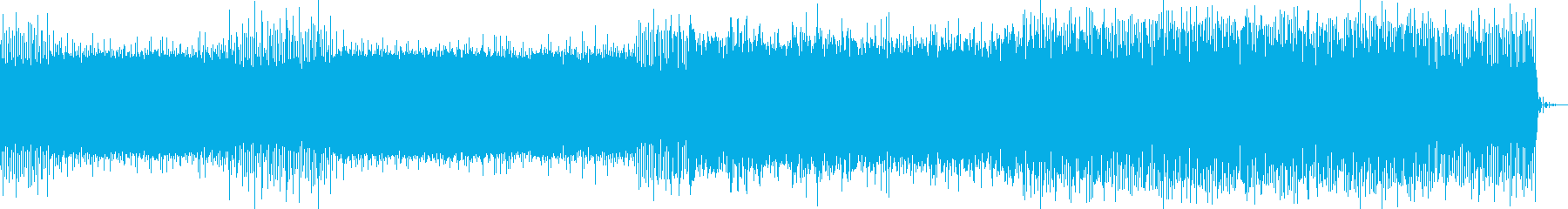 浮遊感のある電子音楽の再生済みの波形