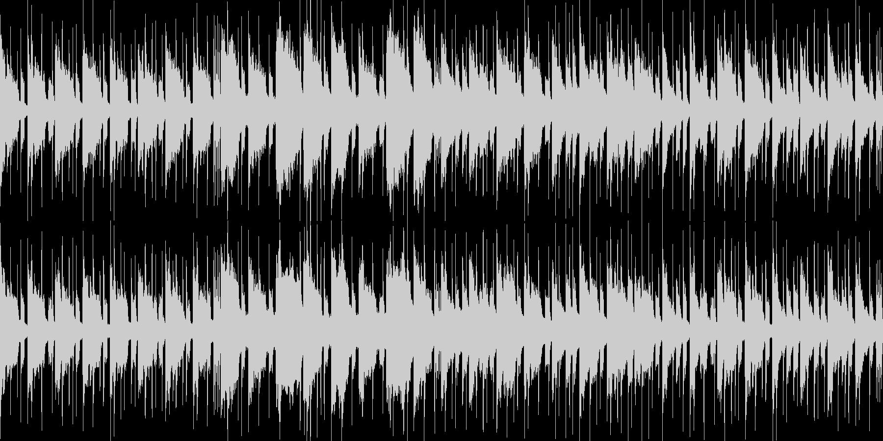穏やかで切ないジャズの未再生の波形