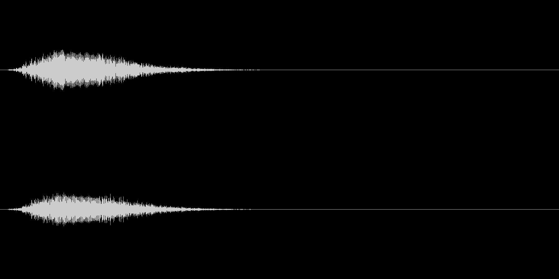 ウィーン:コックピットのドアが開く音の未再生の波形