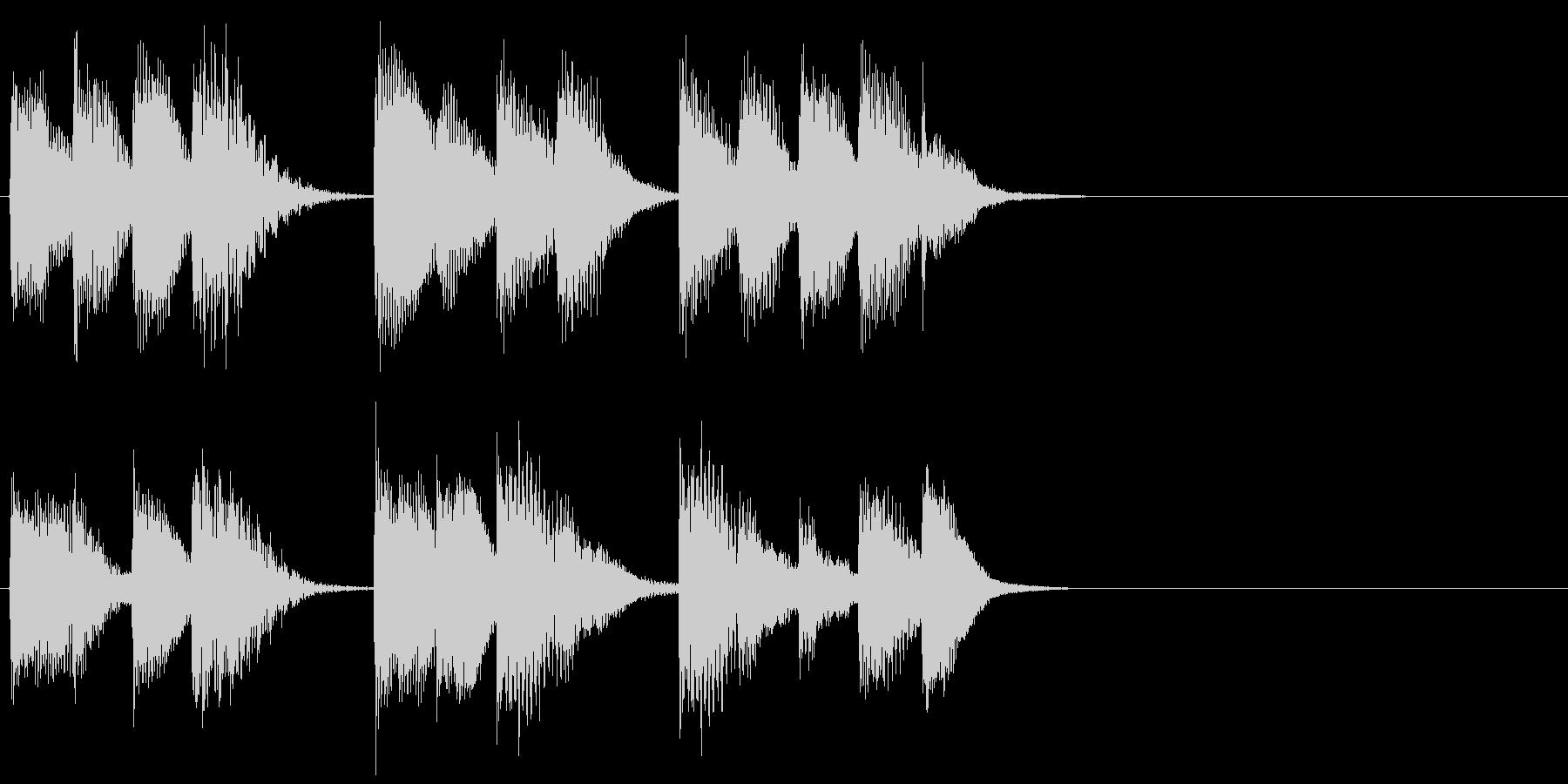 ピアノ ジングル12 無機質の未再生の波形