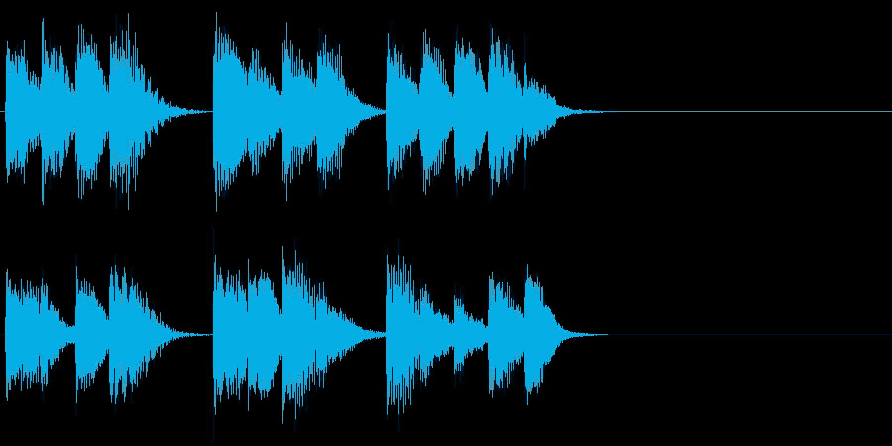 ピアノ ジングル12 無機質の再生済みの波形