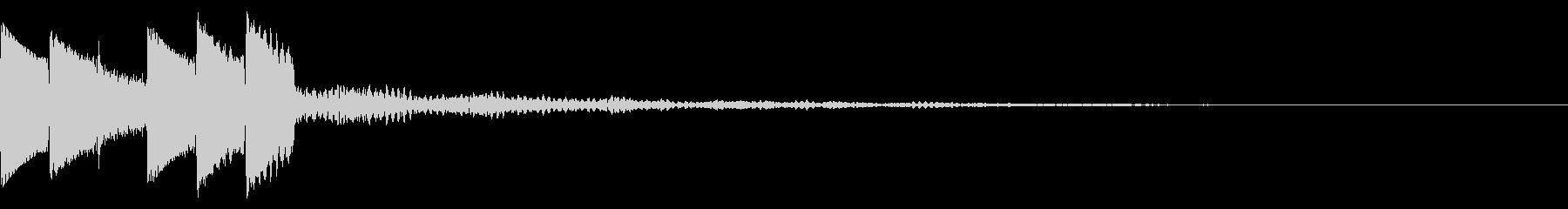 キラキラ/決定音/綺麗/UIの未再生の波形