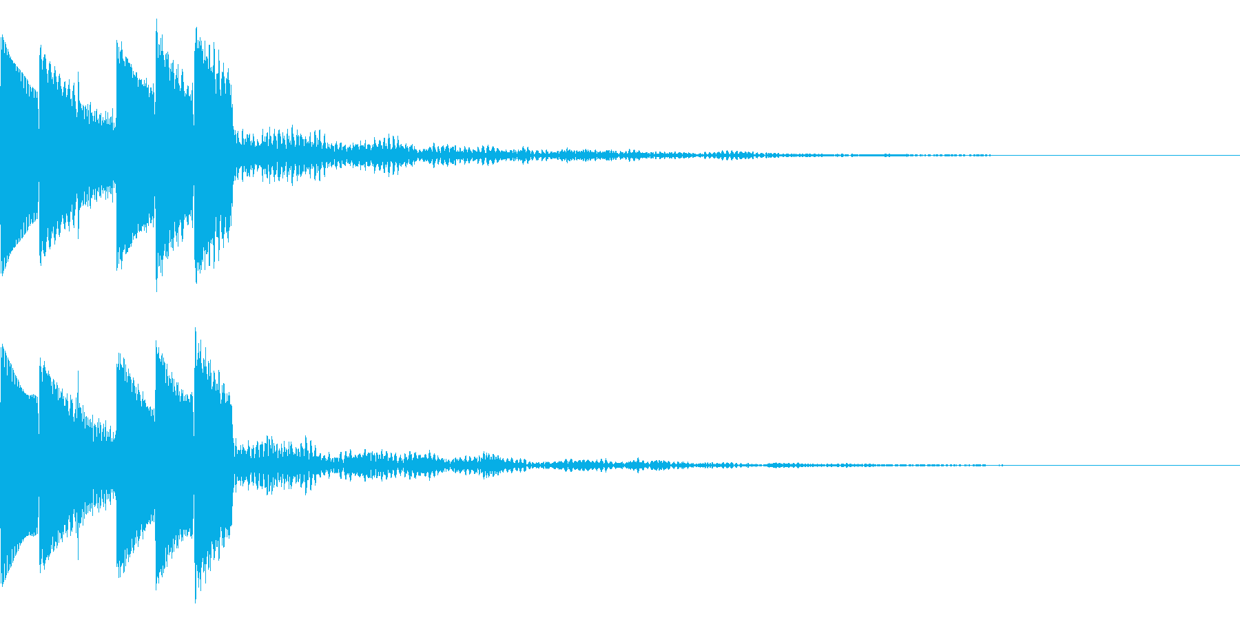 キラキラ/決定音/綺麗/UIの再生済みの波形
