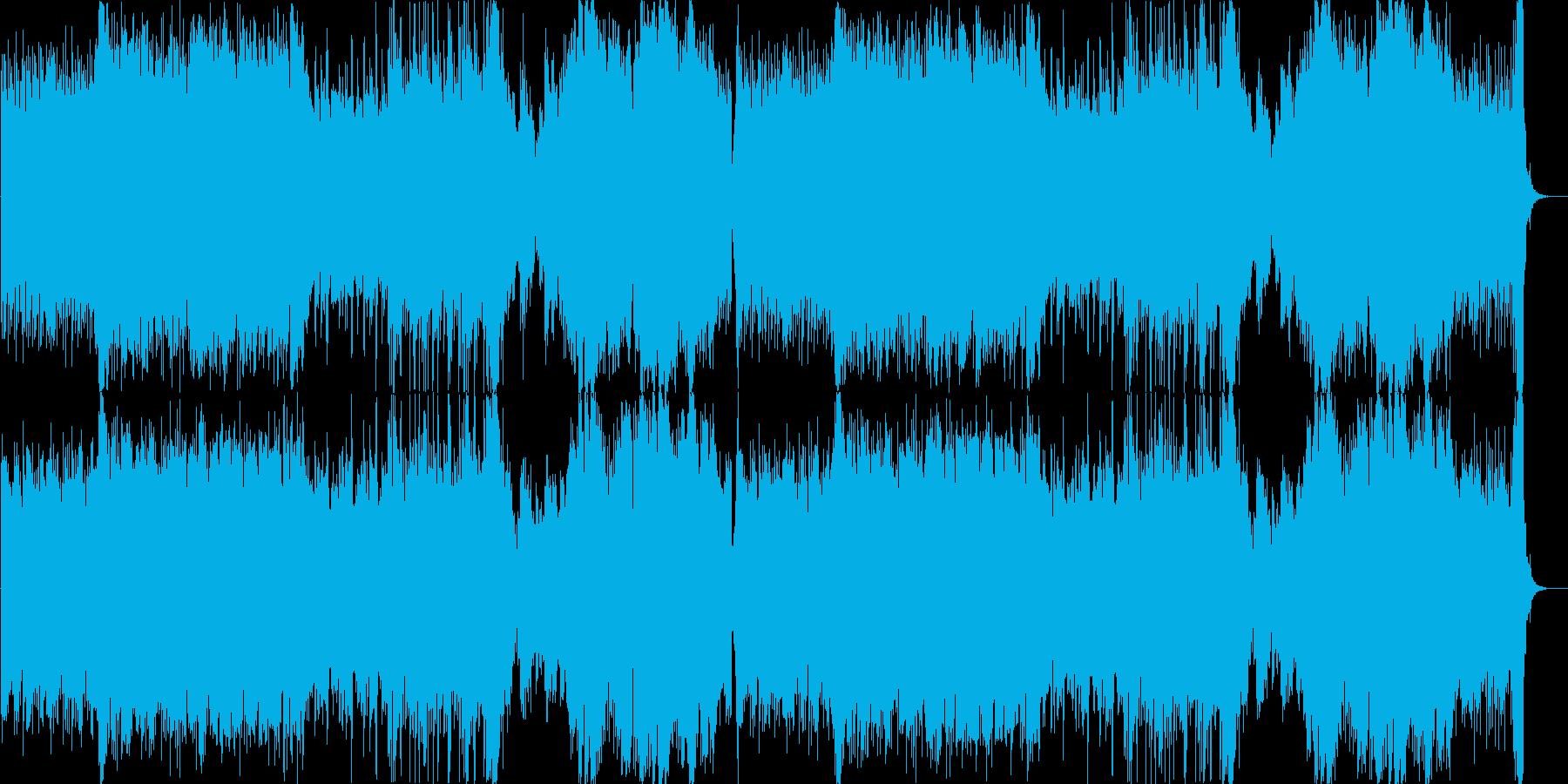 争いの絶えない戦地のテーマ曲の再生済みの波形